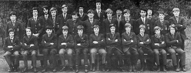 Class Photo 3 1973.jpg - Class Photo from 1973. Back Row:- Hugh Young, Simon Sladden, ?, Kevin DiRollo, Peter Pateluch, Remo Lanni, Paul Hamilton.  Middle Row Standing:- Aldo Togneri, Ramsay Smith, Peter Morris, Vincent Rodier, Richard Dockrell, Matthew Hay, James McCabe, Joseph Tan, ?, David Brown, Robert Daly. Front Row:- ?, Larry Vissochi, Paul Capaldi, Gregory Twiss, Rocco gallo, Peter Lennon, John Flett, Stefano Boni, Christopher Bartholomew, Graham Kelly, Nicholas Garry, Nicholas Barrett.