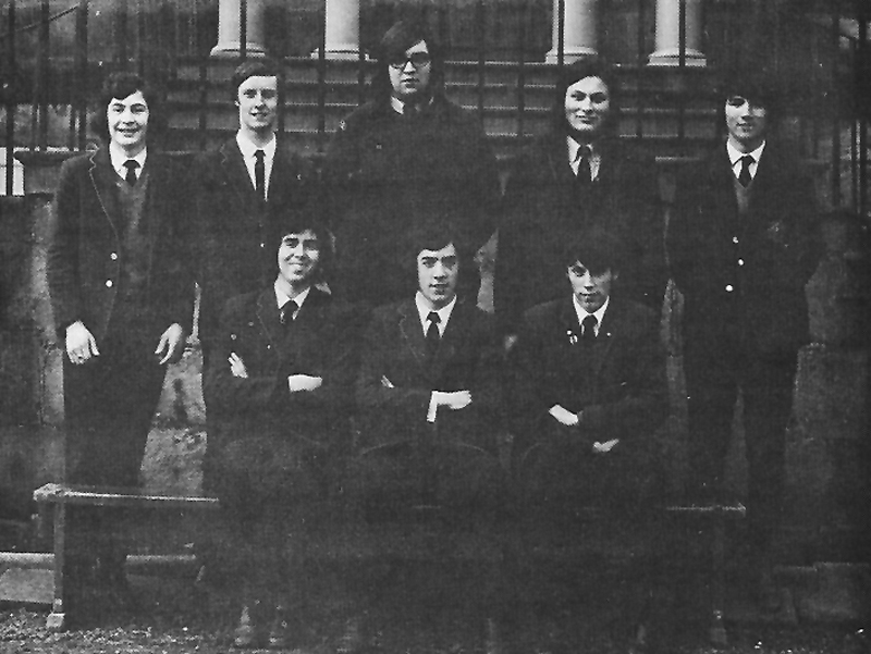 Class Photo Sixth Year 1972.jpg - 6th year 1972 Back Row:Robert Mowatt, Alistair Cooke, Andrew Borys , Paul Valerio, Ron Delnevo Front: Ken Reilly, Liam Donnelly, Graeme Robertson