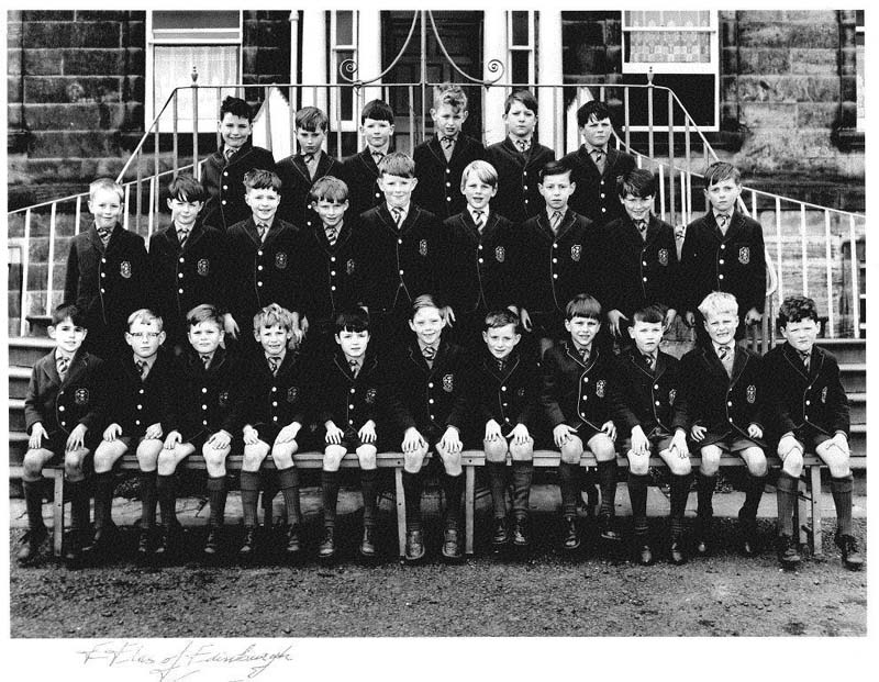 Primary3-4.jpg - PRIMARY 3 or 4 (?) CLASS PHOTO c. 1962- 1963 (?) Reading from left:- Top row:-Stephen Croan, Gordon McCready, Hugh Walsh, Edward Balls (later Kolinsky), Peter Laidlaw, Christopher Flanagan; Middle row: Frank Lappin, Timothy Jackson, Bernard Connarty, Charles Redmond, Jimmy Kirk, Nicky Young, John Casci, Bobby Kelly, Robert Clephane; Front Row: Paul Somerville, Tom McNeely, Chris Barratt, Max Anderson, Robin Elton, Kenneth Mason, Phillip Croan, Mark Coppola, Alan MacKay, Ivor Wynn-Williams, David Bain.