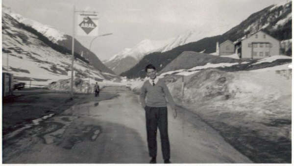 Austria Trip Photo 1967.jpg - Jim Maguire taken during the Scotus trip to Galtur, Austria in April 1967.