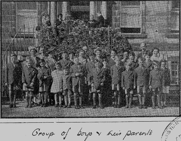 Boys and Parents 1953.jpg - Picture taken shorthly after the school opened in 1953.