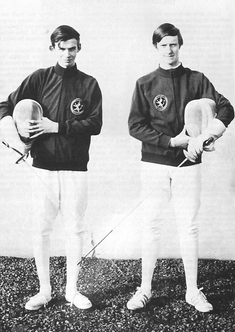 Alistair Cook - Charles Redmond.jpg - International Fencing Colours, Alistair Cook, Junior Scottish Champion. (Right) Charles Remond. (Left)