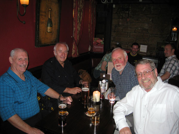 Frank Pete Reunion.jpg - Milne's Bar Reunion,2008. Frank Strathie; Pete Scholfield; Mike Ashley; Gerry Minchella;