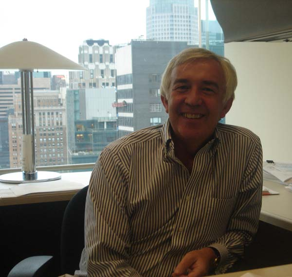 Norman Kelly.jpg - Norman Kelly in his office in the Big Apple.