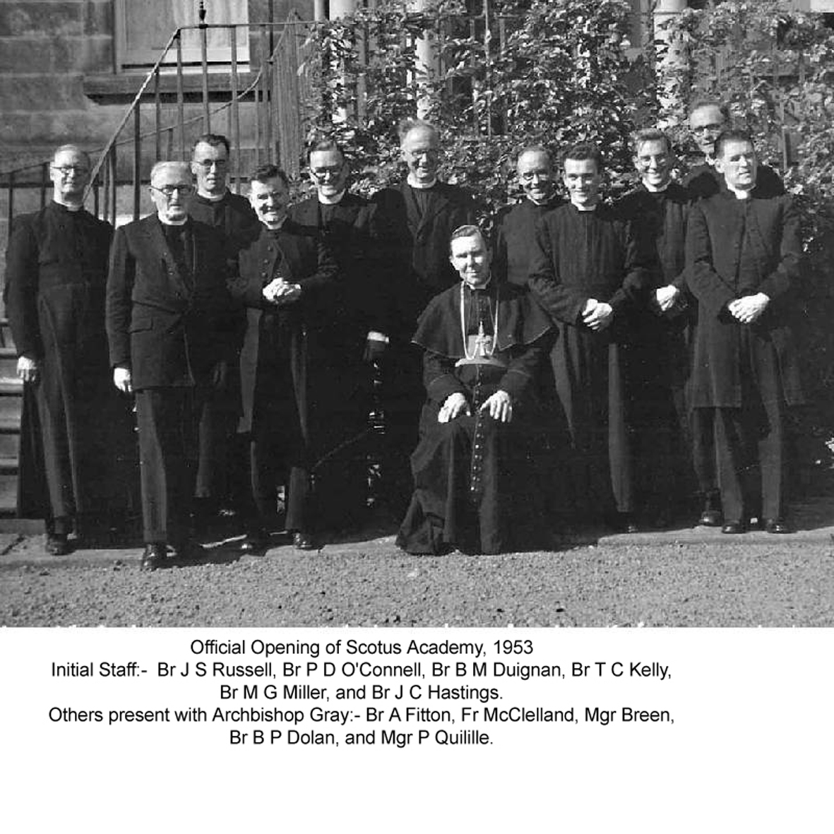 Scotus Staff.JPG - The original staff at the formal opening of the school back in 1953.