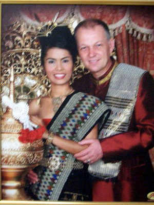 wedding Thai.jpg - Charles Law and his wife.