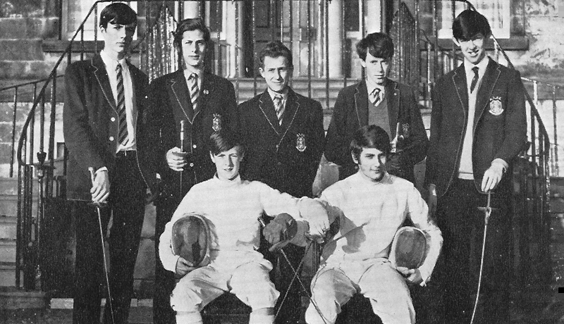 Fencing Team 1969.jpg - The 1969 Fencing Team. which included the late Mike Mayo, Brian Potter, Ian Campbell and Gordon Flavell.