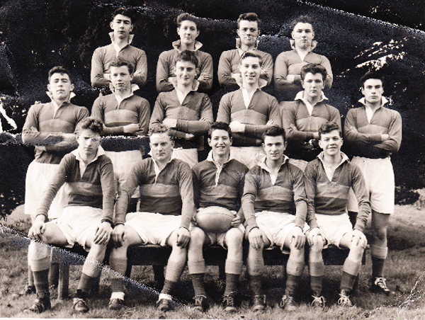 Rugby Team 1st XV 1958.jpg - Here's another photo including members of the original 1st XV  taken, I think, 1958 and features that fabulous open side wing forward popularly known as Bunny