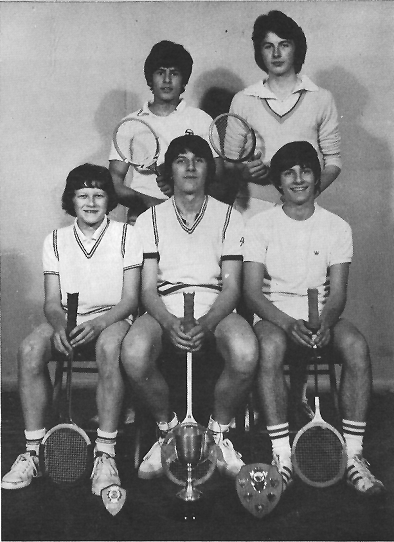Squash team 1977.jpg - The Squash Team in 1977